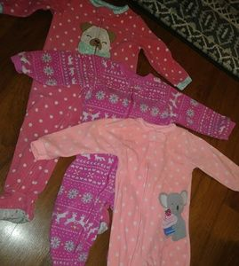 3 pr fleece jammies 18 mo